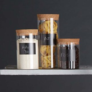 glass storage canister with cork lid