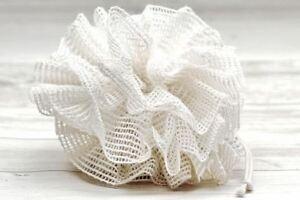 ramie plastic free shower pouf
